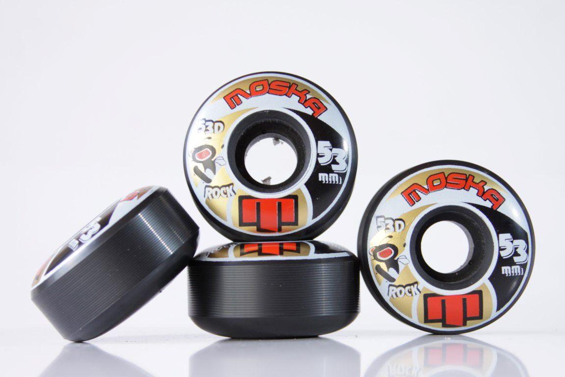 Roda Moska - Sem Miolo Black Rock 53mm  - No Comply Skate Shop
