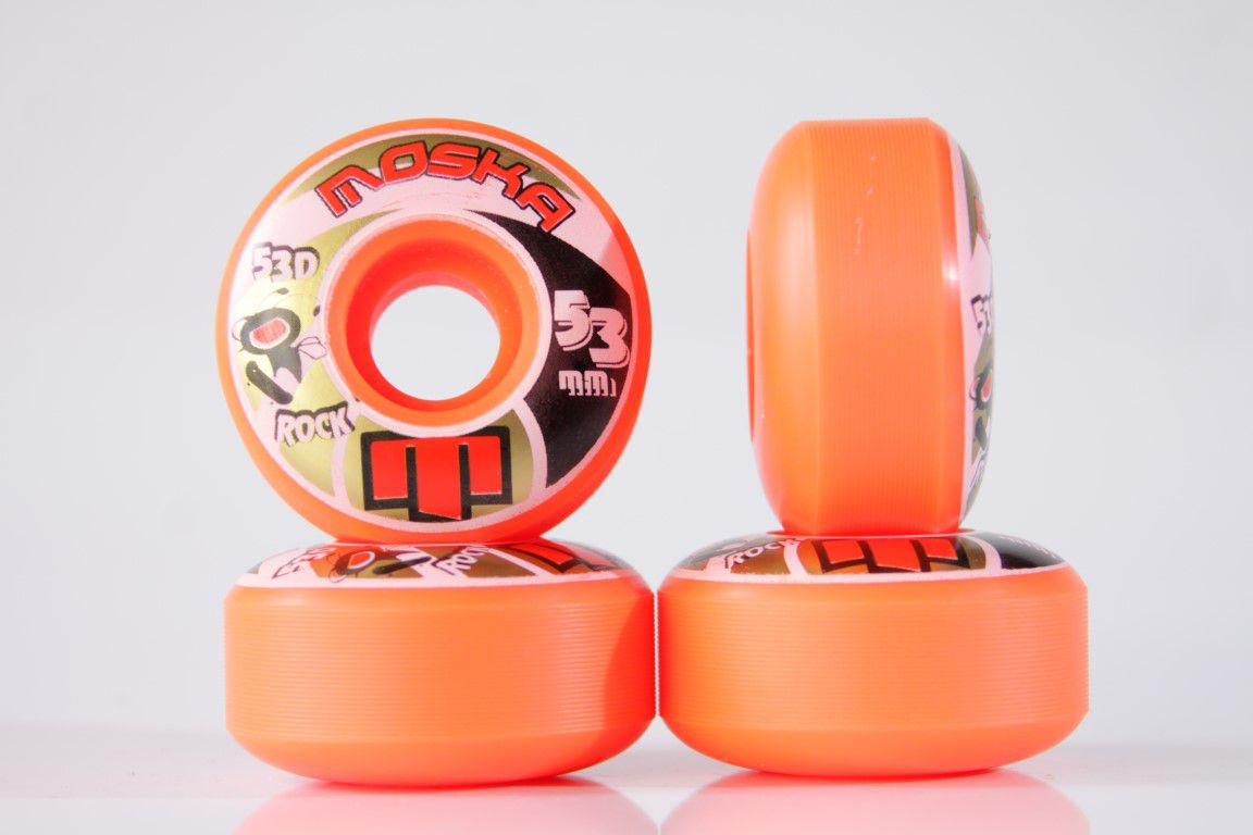 Roda Moska - Sem Miolo Orange Rock 53mm - No Comply Skate Shop