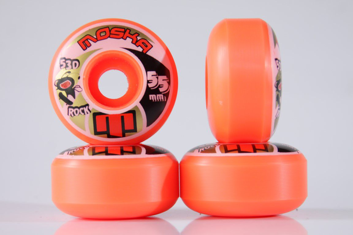 Roda Moska - Sem Miolo Orange Rock 55mm  - No Comply Skate Shop