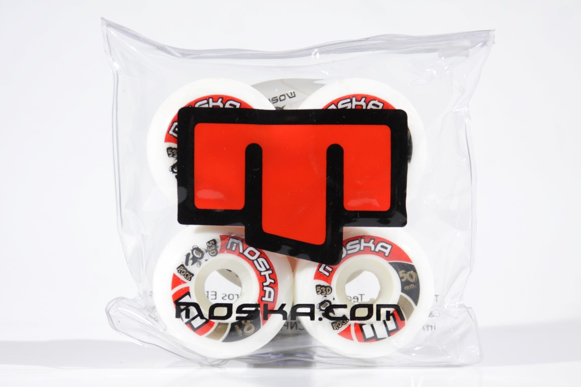 Roda Moska - Sem Miolo White Rock 50mm  - No Comply Skate Shop
