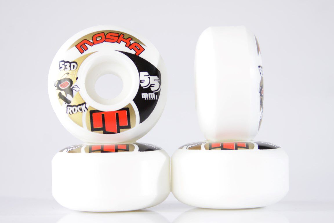 Roda Moska - Sem Miolo White Rock 55mm  - No Comply Skate Shop