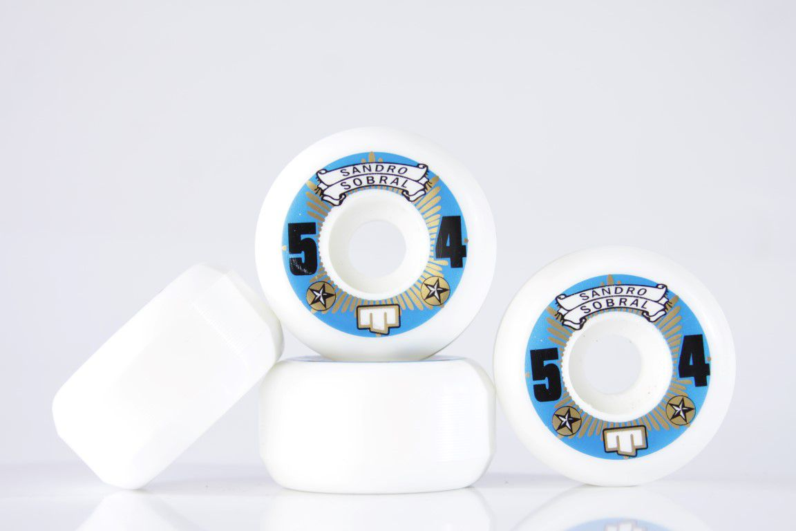 Roda Moska - Sem Miolo White Rock Sandro Sobral 54mm  - No Comply Skate Shop