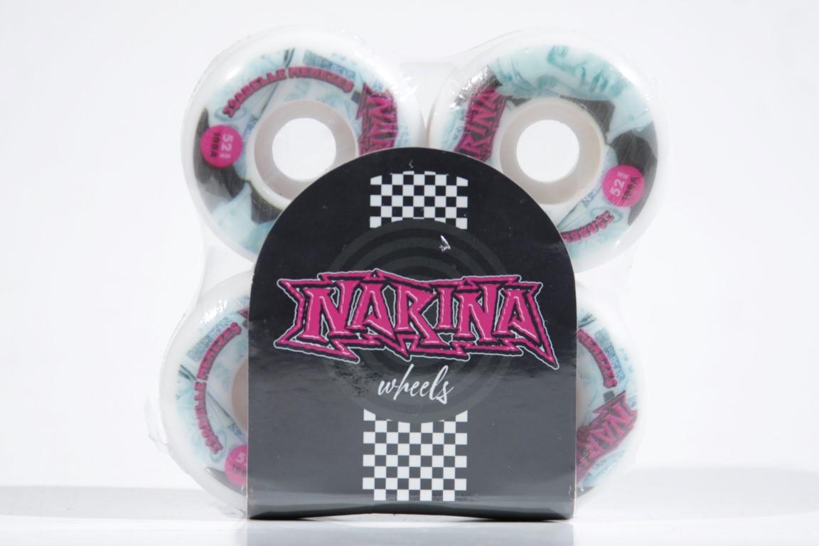 Roda Narina - Real White 52mm  - No Comply Skate Shop