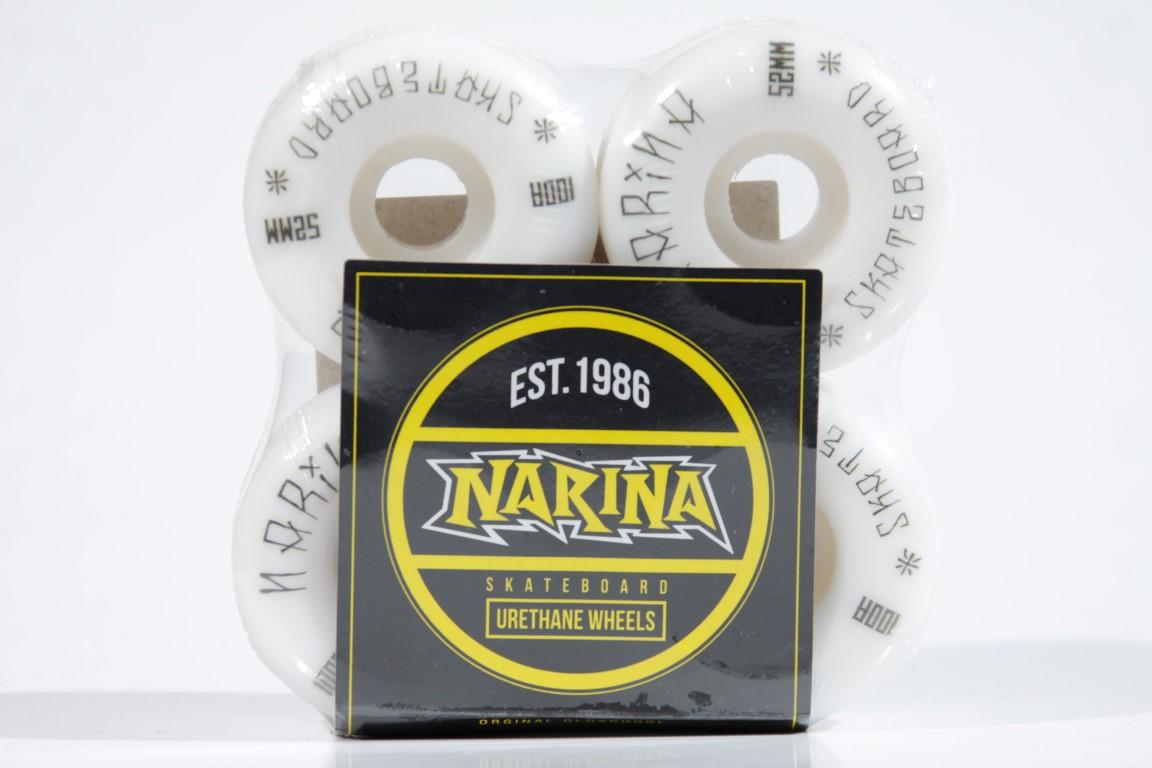 Roda Narina - Tag White 52mm  - No Comply Skate Shop