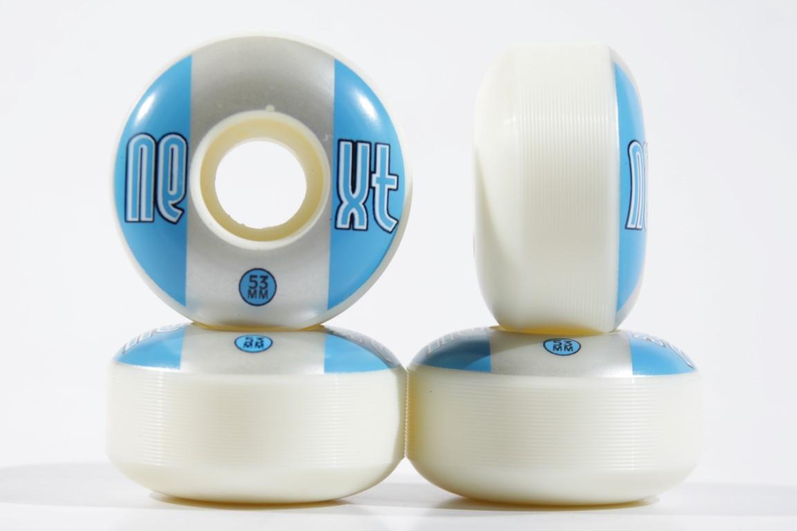 Roda Next - Sem Miolo Next II White 53mm Azul/Prata  - No Comply Skate Shop