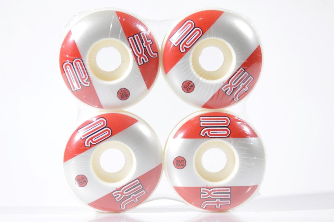 Roda Next - Sem Miolo Next II White 53mm Vermelho/Prata  - No Comply Skate Shop