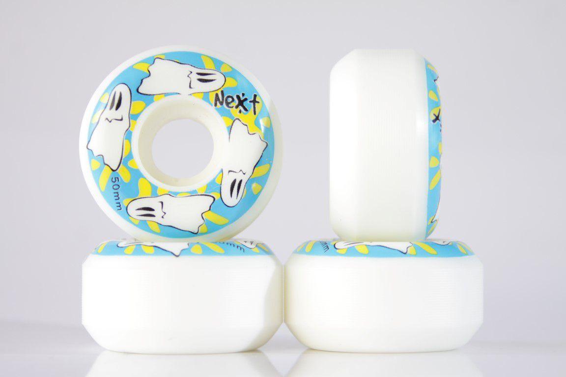 Roda Next - Sem Miolo White 50mm  - No Comply Skate Shop