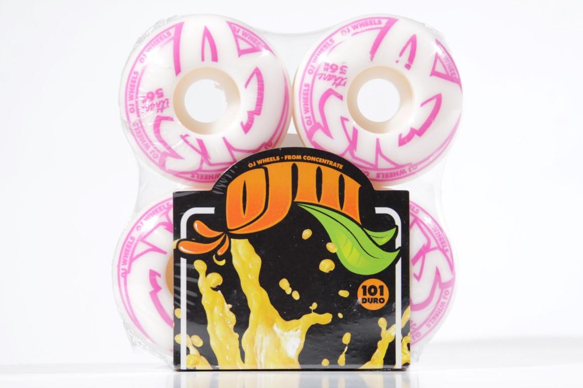 Roda OJ - Concentrates EZ Edge White 56mm  - No Comply Skate Shop