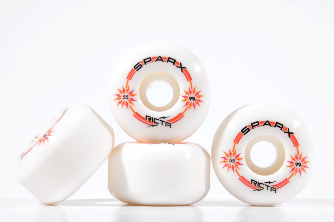 Roda Ricta - Sparx White 55mm  - No Comply Skate Shop