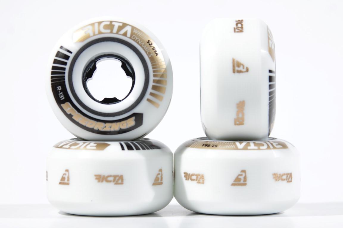 Roda Ricta - Speedrings White 52mm  - No Comply Skate Shop