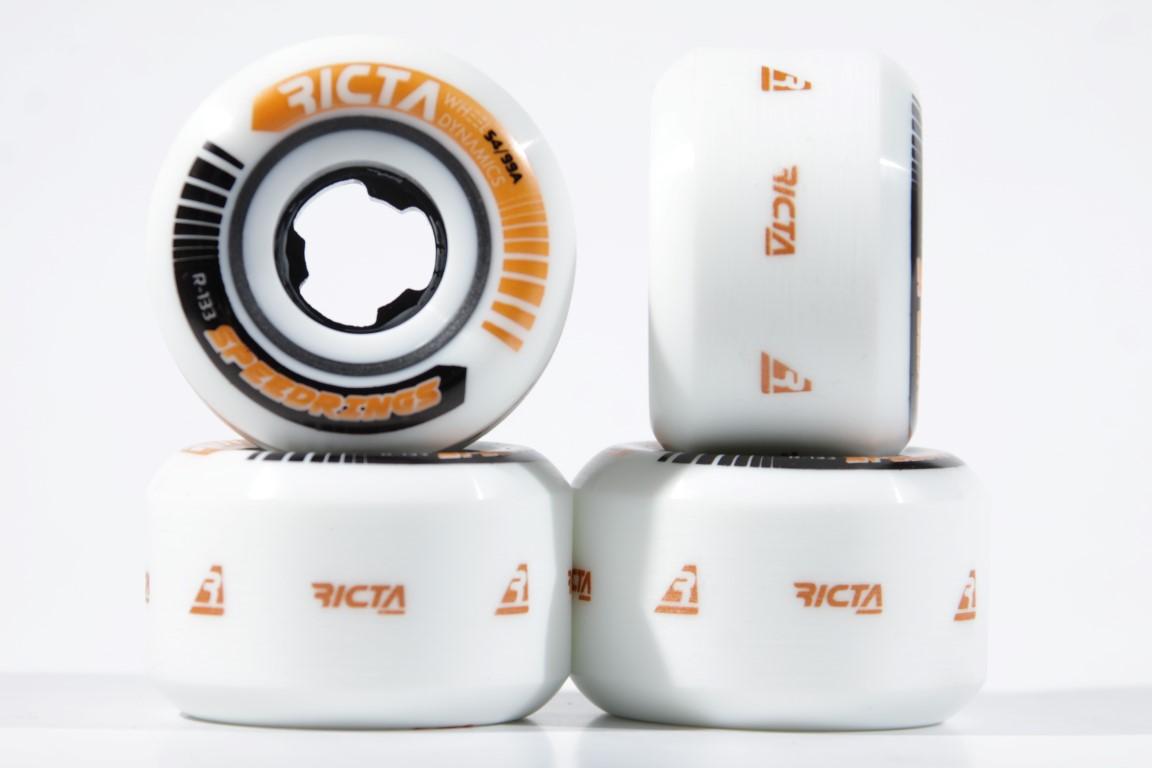 Roda Ricta - Speedrings White 54mm  - No Comply Skate Shop