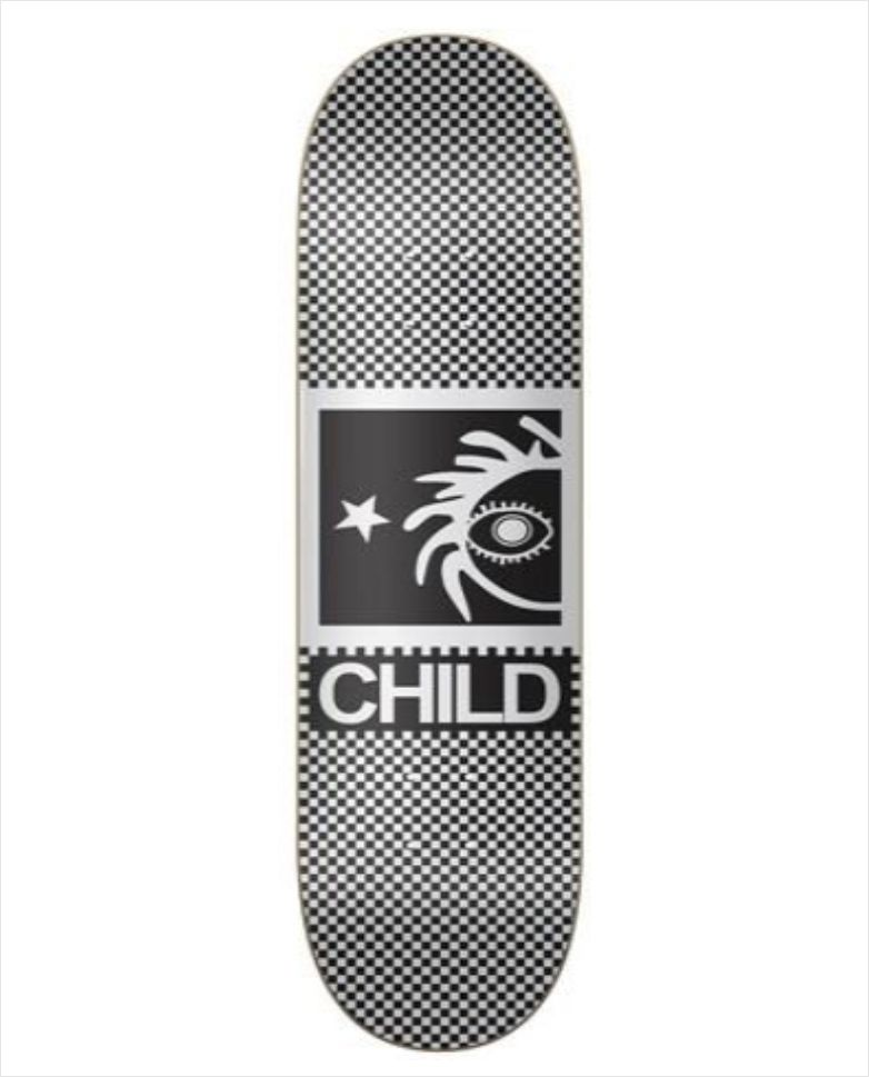 "Shape Child - Heat Transfer Retrochess 8.1""  - No Comply Skate Shop"