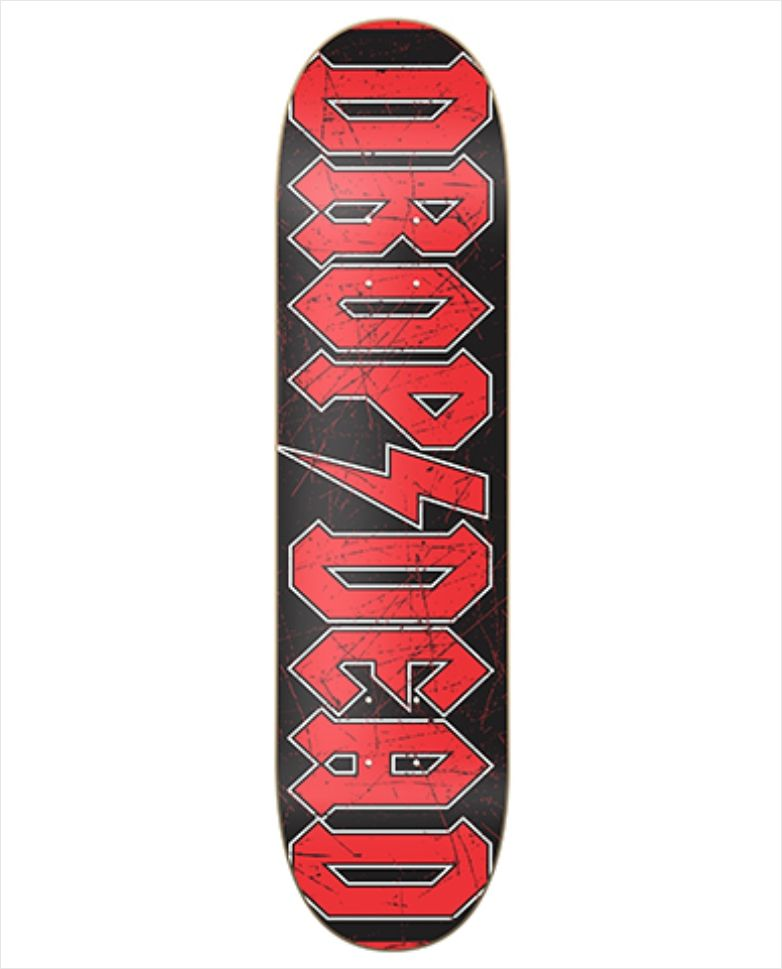 "Shape Dropdead - Heat Transfer AC-DC 8.37""  - No Comply Skate Shop"