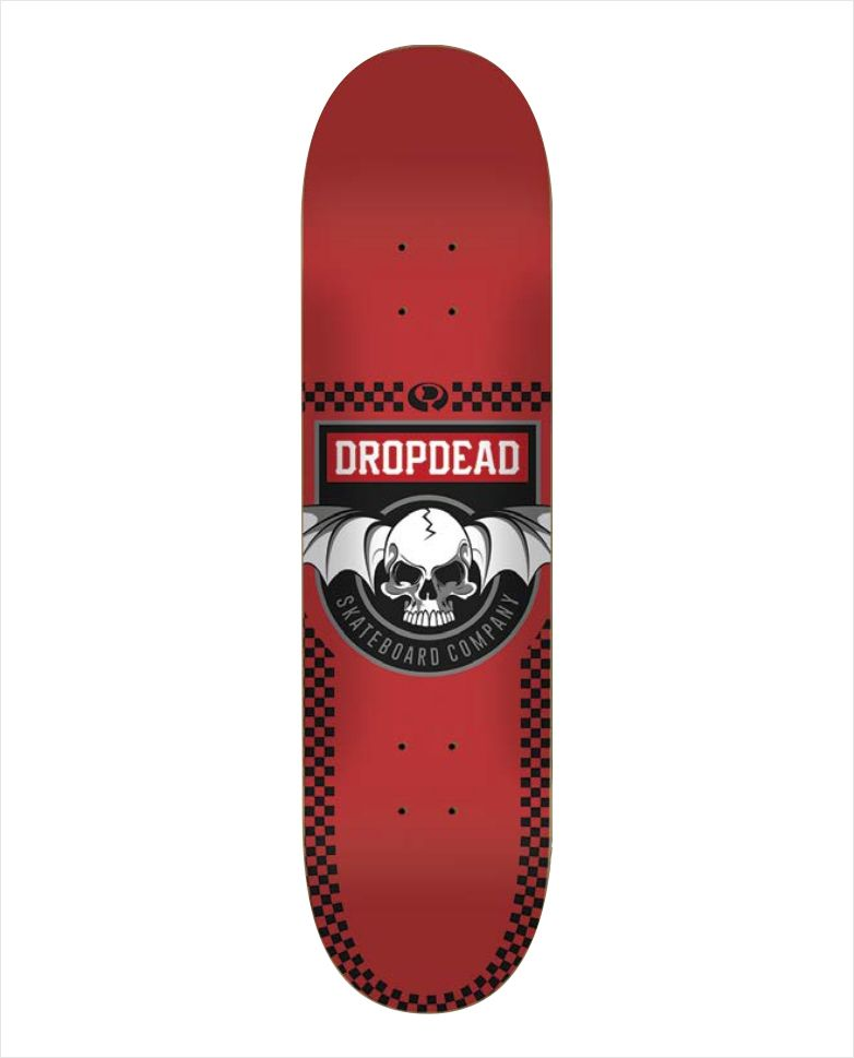 "Shape Dropdead - Heat Transfer Deadly Red 7.9""  - No Comply Skate Shop"
