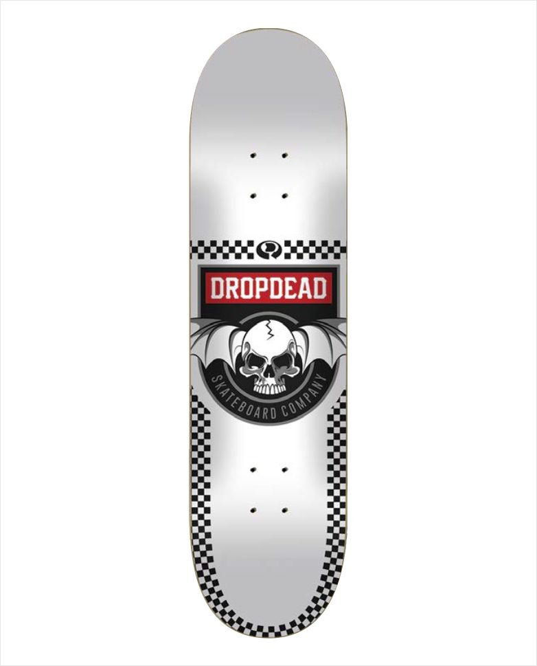 Shape Dropdead - Heat Transfer Deadly White  - No Comply Skate Shop