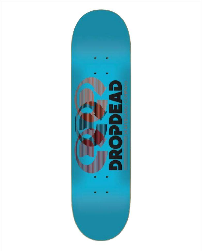 "Shape Dropdead - Heat Transfer Optics Blue 8""  - No Comply Skate Shop"
