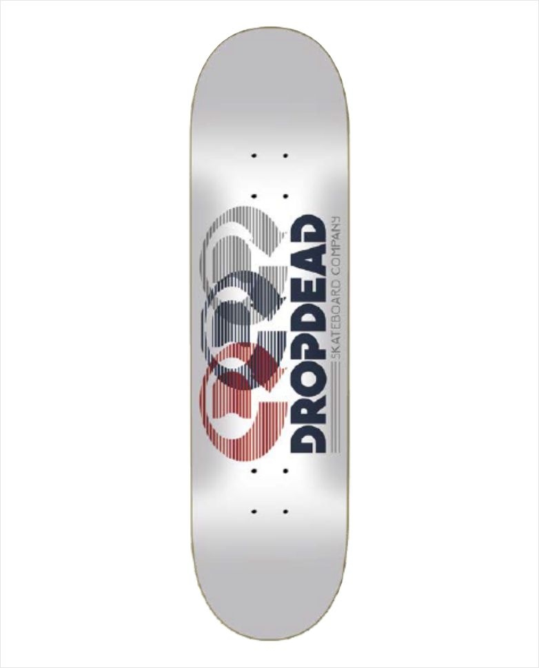 "Shape Dropdead - Heat Transfer Optics White 8.1""  - No Comply Skate Shop"