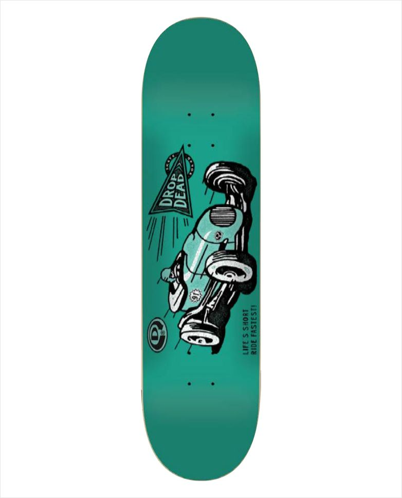 "Shape Dropdead - Heat Transfer Ride Fastest Green 7.9""  - No Comply Skate Shop"