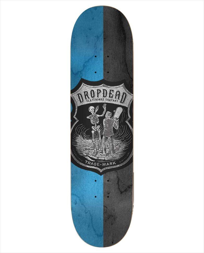 Shape Dropdead - Heat Transfer SK8 Is Life Azul  - No Comply Skate Shop
