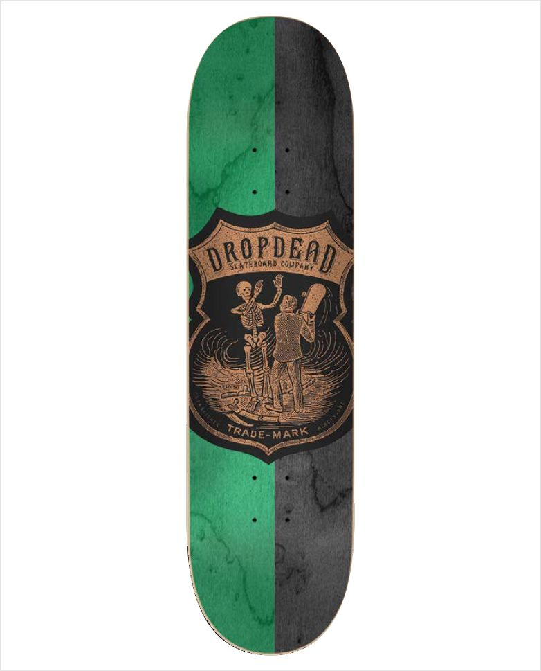"Shape Dropdead - Heat Transfer SK8 Is Life Verde 8""  - No Comply Skate Shop"