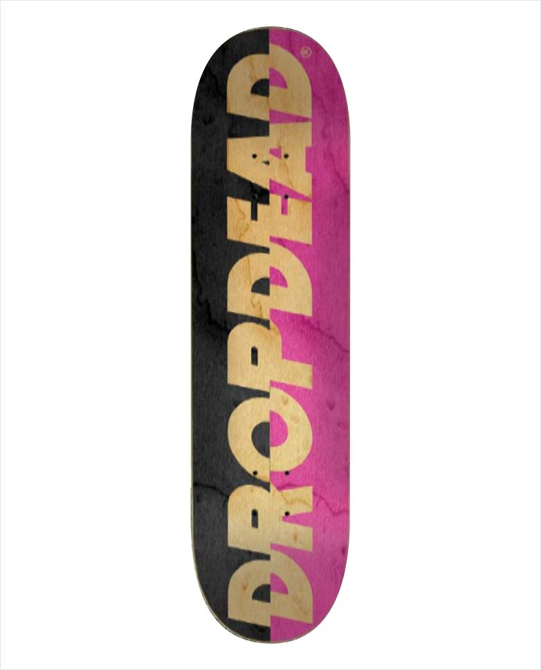 "Shape Dropdead - Heat Transfer Sliced Black Pink 7.9""  - No Comply Skate Shop"
