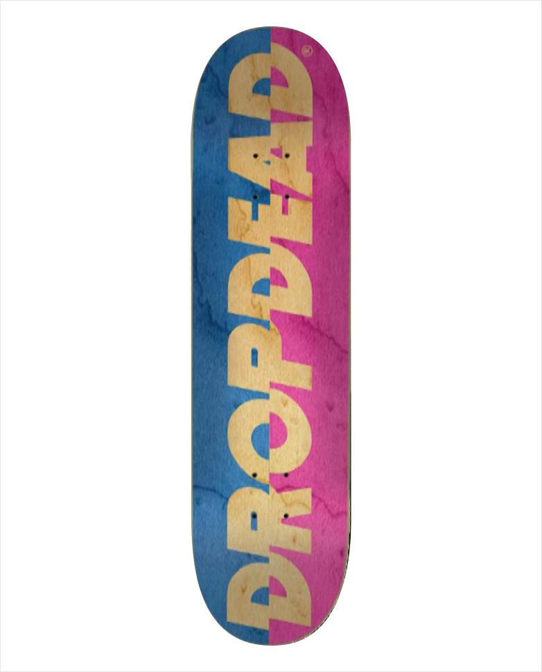 "Shape Dropdead - Heat Transfer Sliced Blue Pink 8.1""  - No Comply Skate Shop"