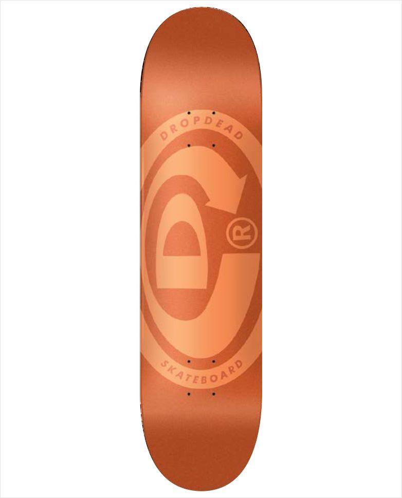 """Shape Dropdead - NK3 Premium Knockout Elipse Orange 8.1""""  - No Comply Skate Shop"""