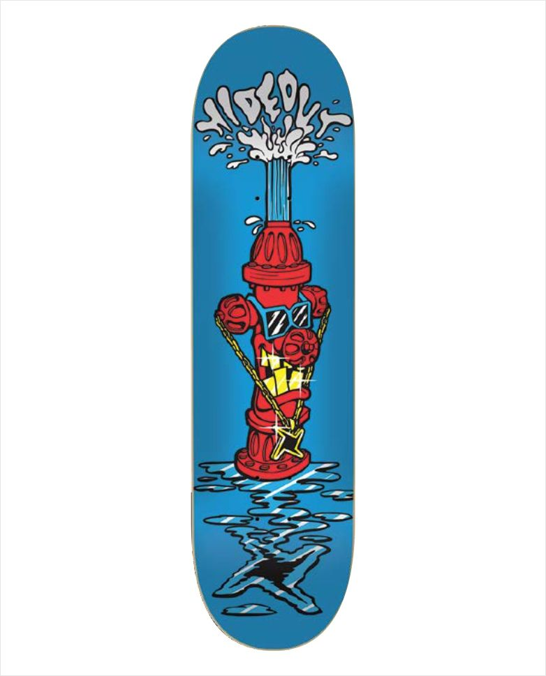 "Shape Hideout - Heat Transfer Hidrante Azul 8.37""  - No Comply Skate Shop"