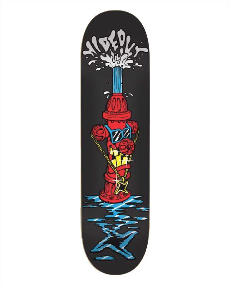 "Shape Hideout - Heat Transfer Hidrante Preto 8""  - No Comply Skate Shop"