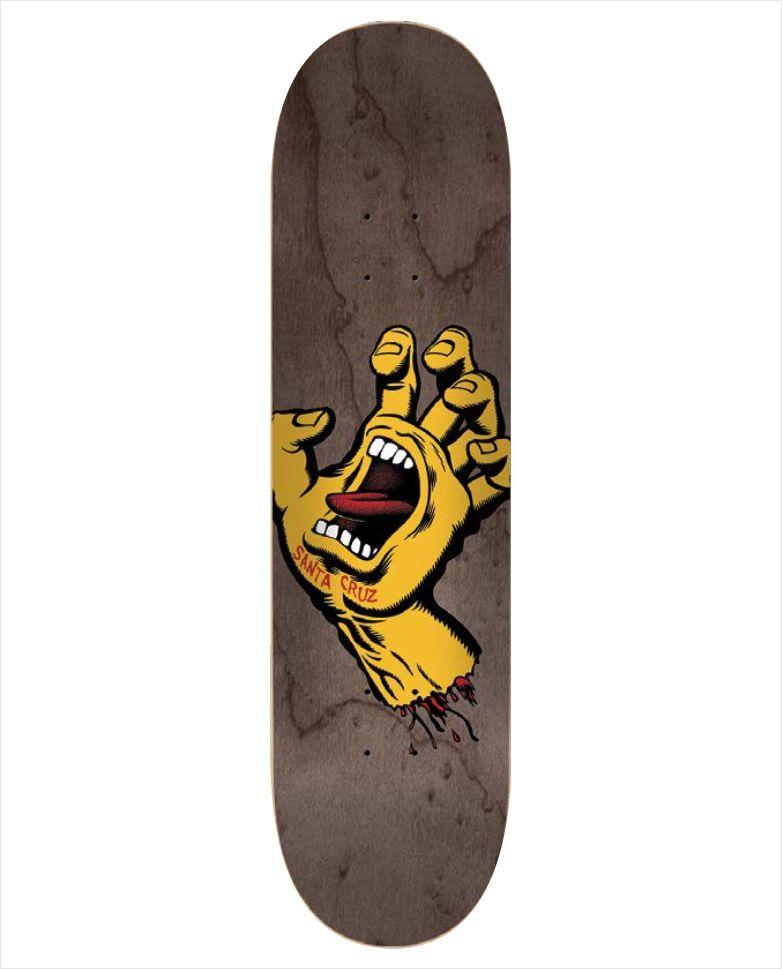 "Shape Santa Cruz - Maple Screaming Hand Brown 8.37""  - No Comply Skate Shop"