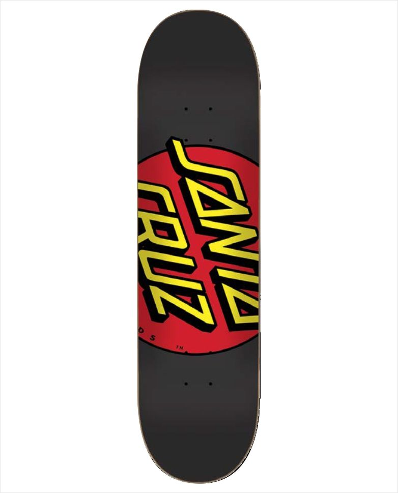 "Shape Santa Cruz - Power Lyte Big Dot Black 8.1""  - No Comply Skate Shop"