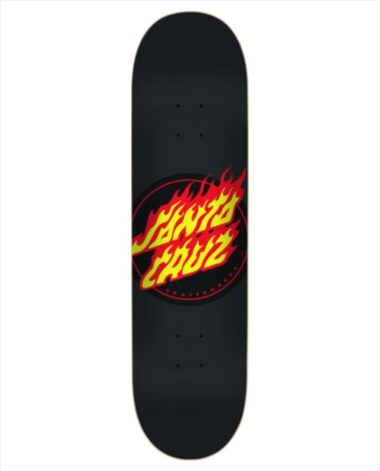 "Shape Santa Cruz - Power Lyte Flame Dot Black 8""  - No Comply Skate Shop"