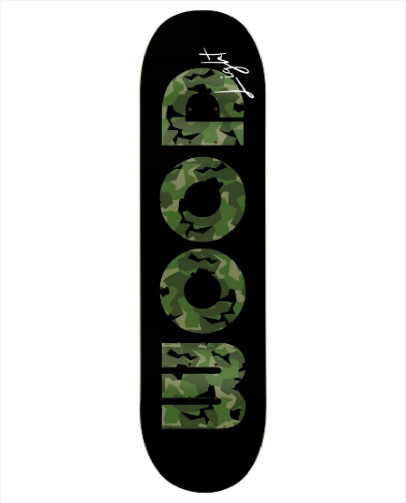 "Shape Wood Light - Fiber Glass Army Green 7.75""  - No Comply Skate Shop"