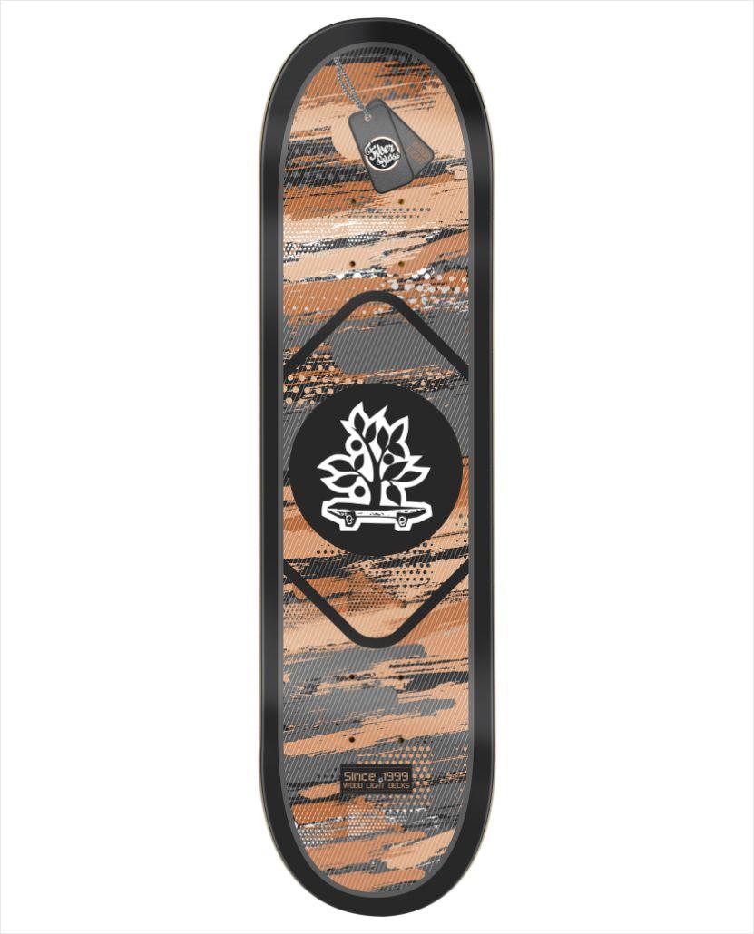 """Shape Wood Light - Fiber Glass Army II 7.75""""  - No Comply Skate Shop"""