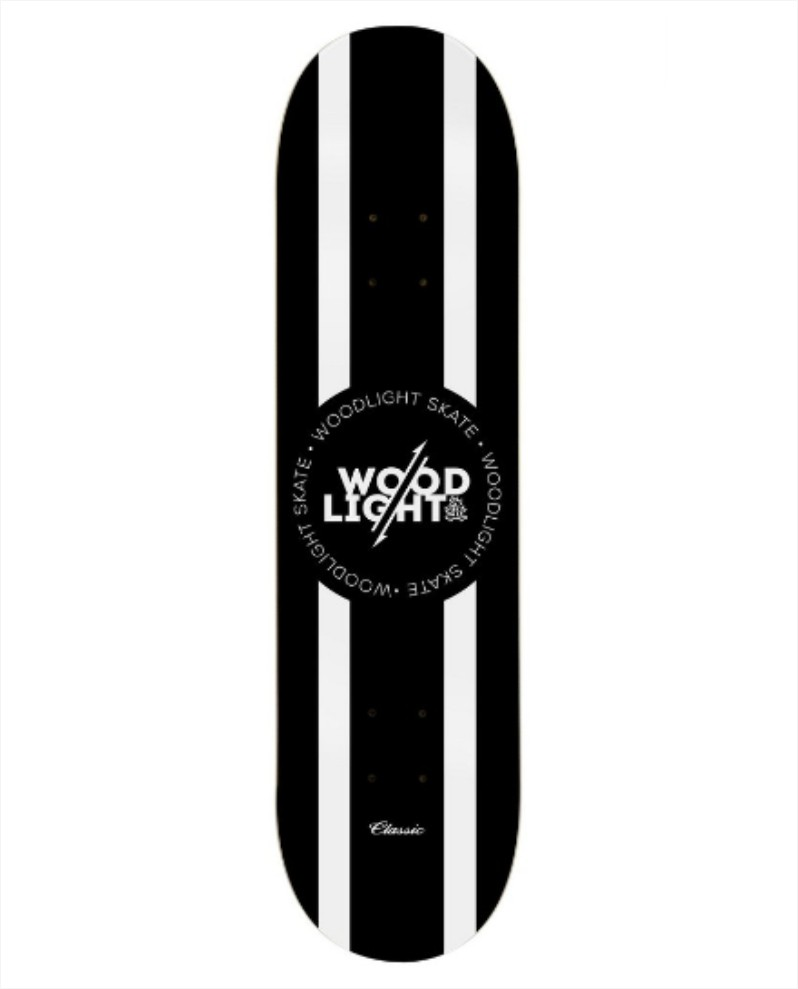 "Shape Wood Light - Fiber Glass Classic Black Center 8.125""  - No Comply Skate Shop"