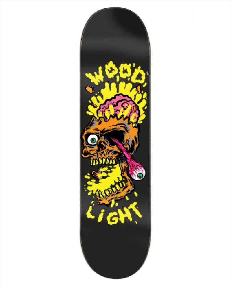"""Shape Wood Light - Fiber Glass Crushed Skull 7.75""""  - No Comply Skate Shop"""