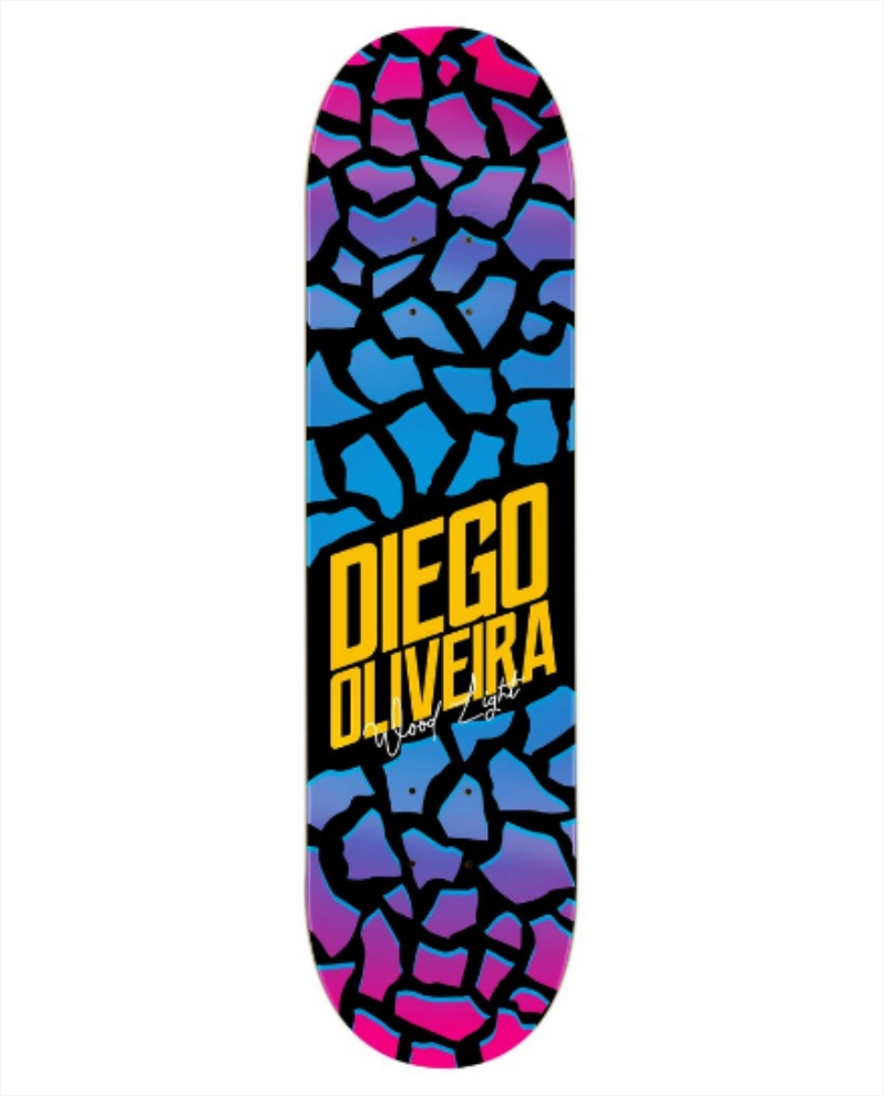 "Shape Wood Light - Fiber Glass Diego Oliveira Broken 8.0""  - No Comply Skate Shop"