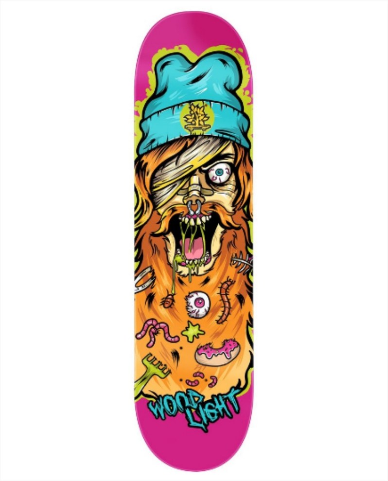 "Shape Wood Light - Fiber Glass Freak Show Beard Man 8.0""  - No Comply Skate Shop"