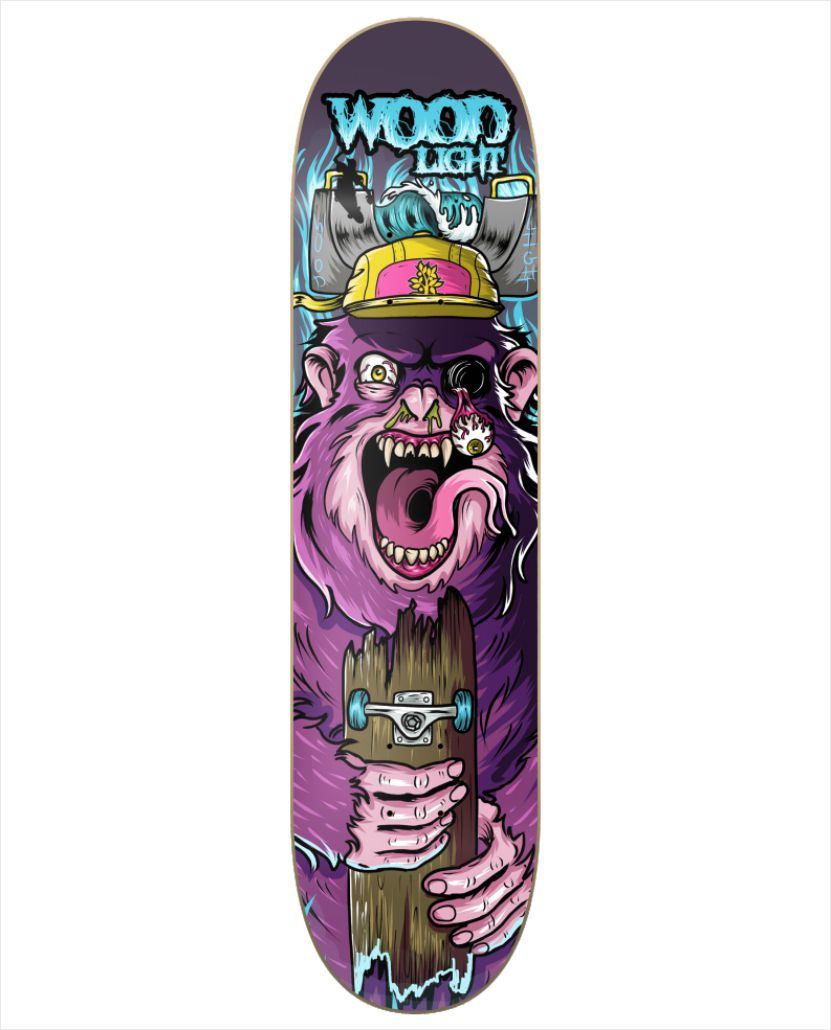 Shape Wood Light - Fiber Glass Freak Show V   - No Comply Skate Shop