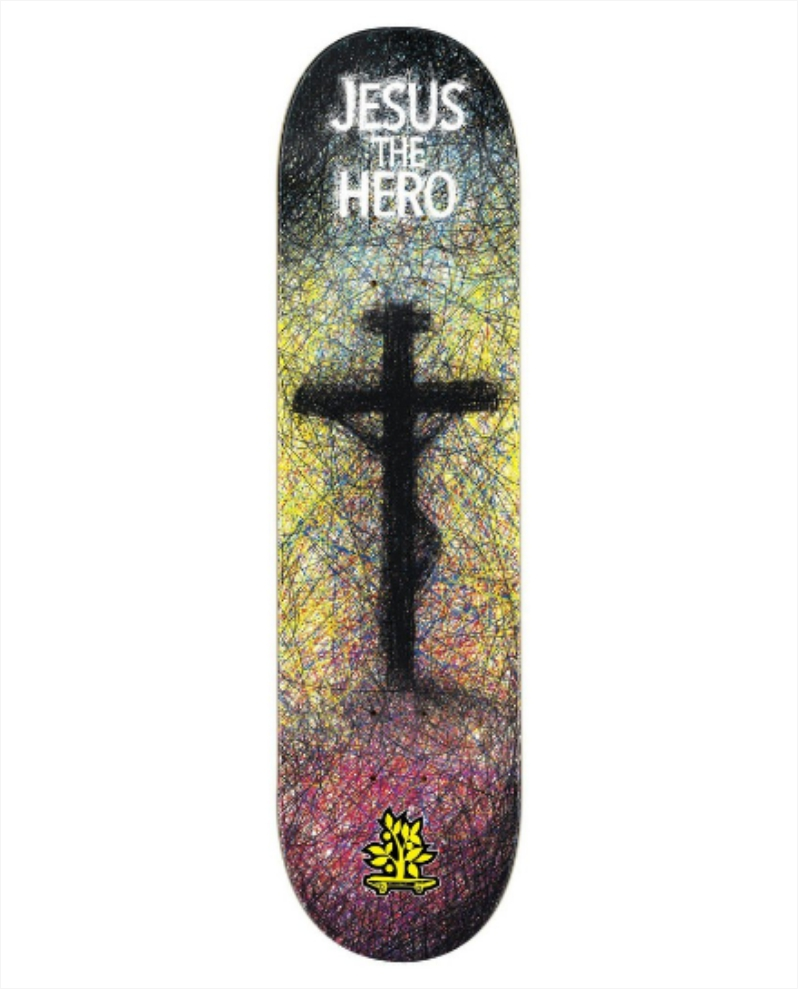 Shape Wood Light - Fiber Glass Jesus The Hero  - No Comply Skate Shop