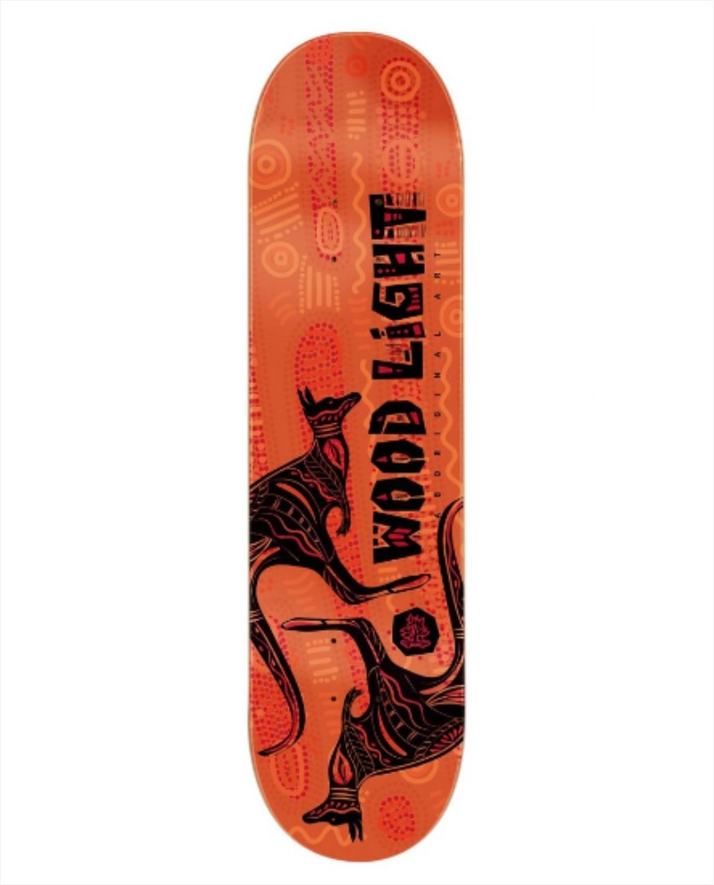 "Shape Wood Light - Fiber Glass Kangaroos Land 8.0""  - No Comply Skate Shop"