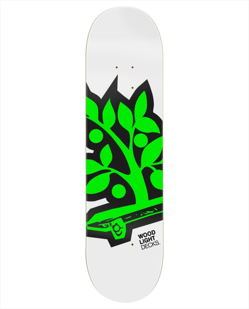 "Shape Wood Light - Fiber Glass Logotipia Green 8.0""  - No Comply Skate Shop"