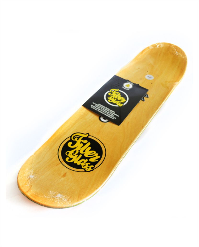 "Shape Wood Light - Fiber Glass Logotipia Yellow 8.0""  - No Comply Skate Shop"