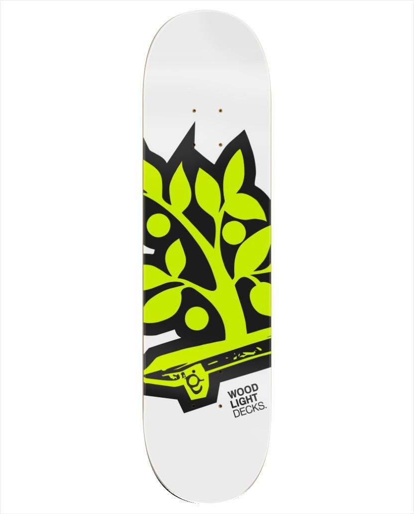 "Shape Wood Light - Fiber Glass Logotipia Yellow 8.0""  - No Comply Skate Shop"