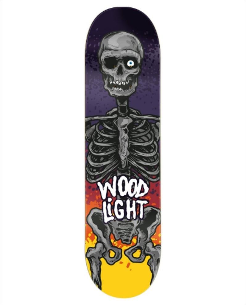 "Shape Wood Light - Fiber Glass Lone Skull 8,0""  - No Comply Skate Shop"