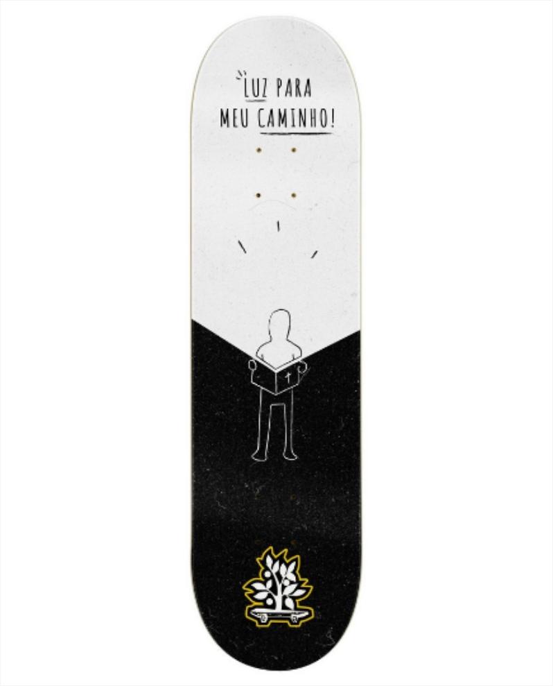 """Shape Wood Light - Fiber Glass Luz Para o Meu Caminho 8.0""""  - No Comply Skate Shop"""