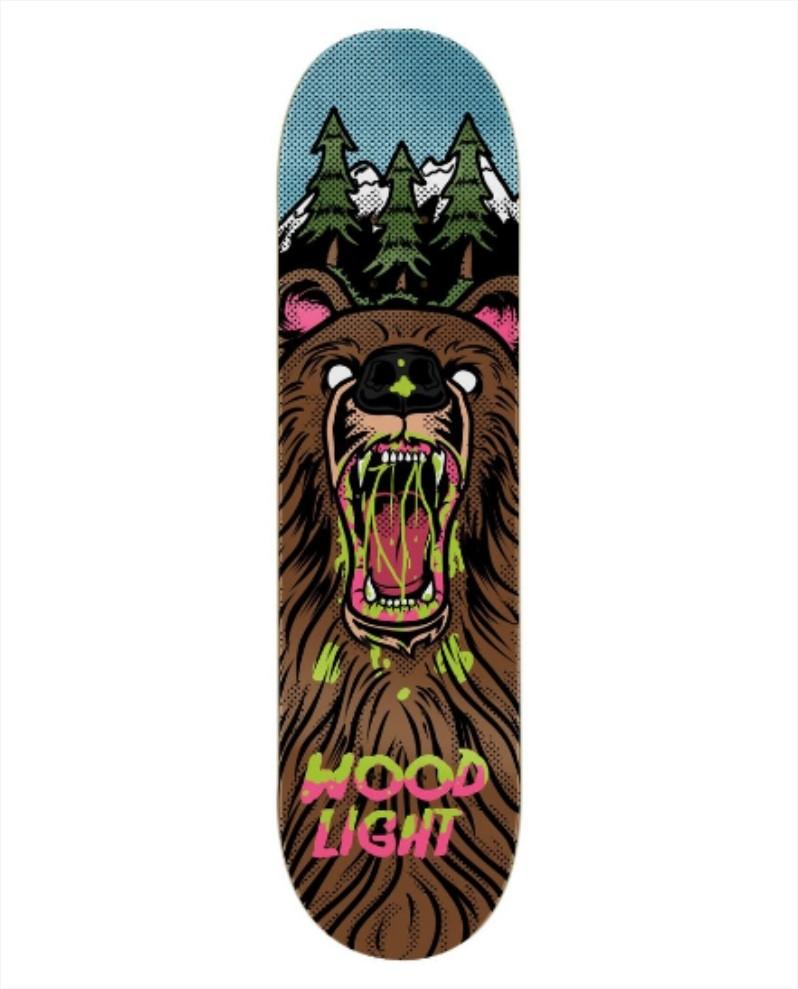 "Shape Wood Light - Fiber Glass Mountain Bear 8.0""  - No Comply Skate Shop"
