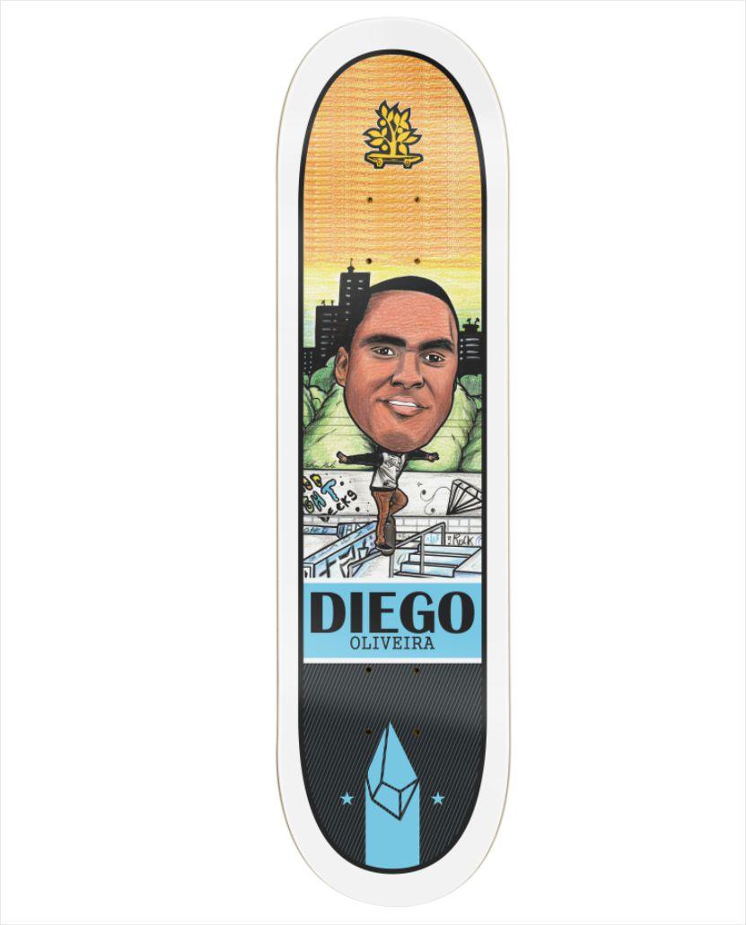 "Shape Wood Light - Fiber Glass Pro Model Diego Oliveira II 8.0""  - No Comply Skate Shop"