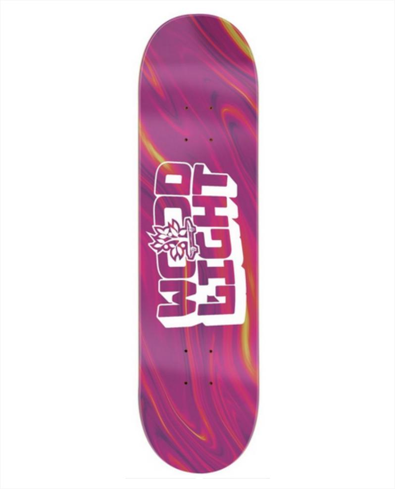 "Shape Wood Light - Maple Liquid Pink 8.25""  - No Comply Skate Shop"