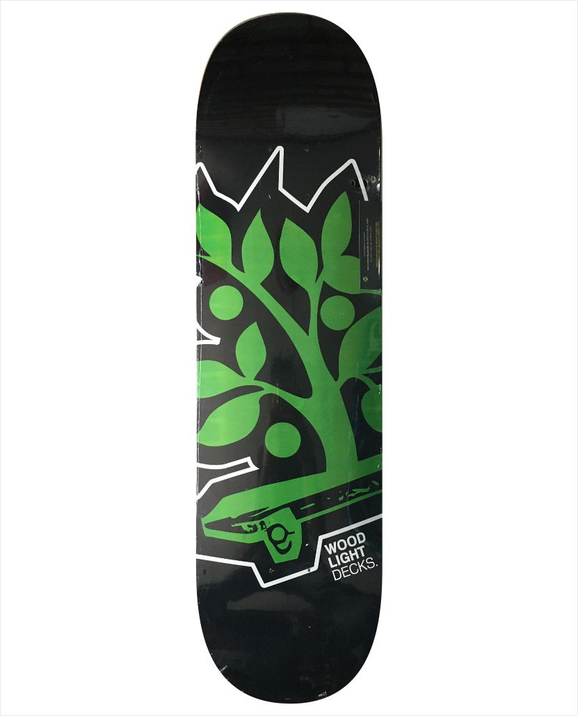 "Shape Wood Light - Maple Logotipia Green-Black 8.5""  - No Comply Skate Shop"